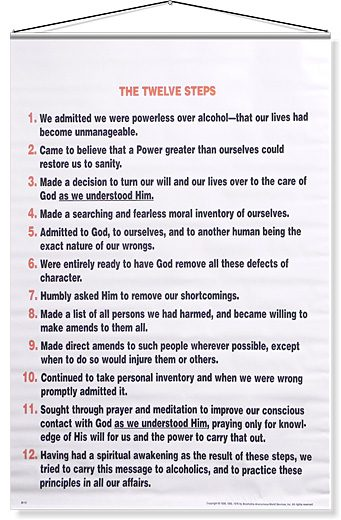 The Twelve Steps of Alcoholics Anonymous - Any Lengths Online AA Meetings